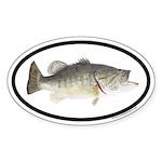 Largemouth Bass Euro Oval Sticker