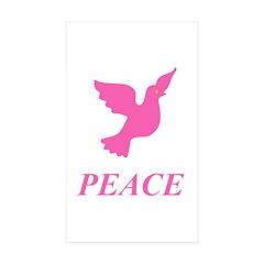 Pink Dove Rectangle Sticker 10 pk)