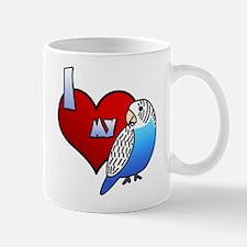 Love Blue Budgie Mug