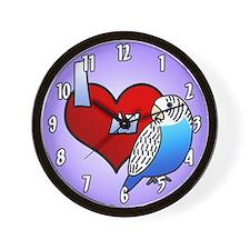 I Love My Blue Budgie Clock (Cartoon)
