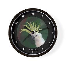 Cute Cockatoo Wall Clock