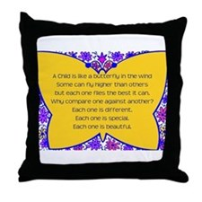 full butterfly Throw Pillow