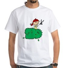 Stick Figure Trims Hedge Shirt
