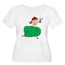 Stick Figure Trims Hedge T-Shirt