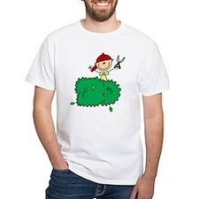 Stick Figure Trims Hedge Shirt