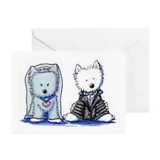 Westie Bride & Groom Greeting Cards (Pk of 10)