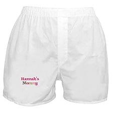 Hannah's Mommy Boxer Shorts