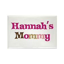 Hannah's Mommy Rectangle Magnet