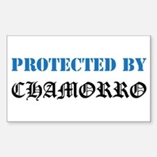 Protected by Chamorro Rectangle Decal