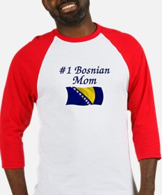 #1 Bosnian Mom Baseball Jersey