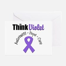 Hodgkin's Think Violet Greeting Cards (Pk of 10)