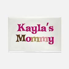 Kayla's Mommy Rectangle Magnet