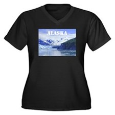 Beautiful Scenic Alaska Women's Plus Size V-Neck D