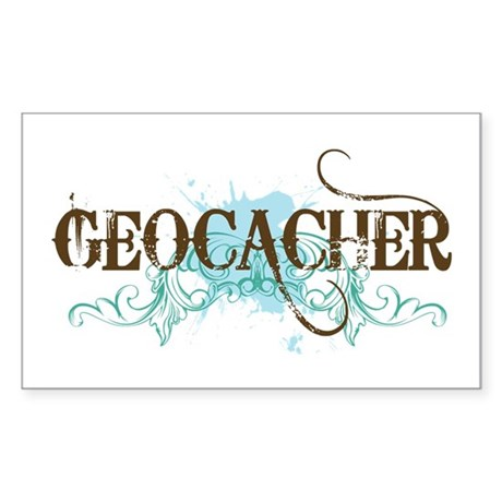 Geocacher Rectangle Sticker