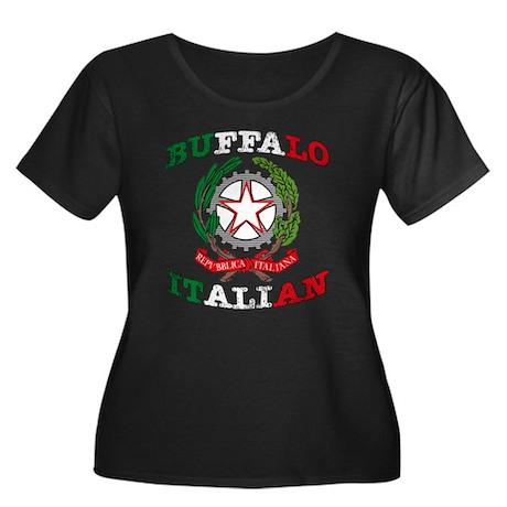 Buffalo Italian Women's Plus Size Scoop Neck Dark