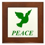 Green Dove Framed Tile