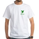 Green Dove White T-Shirt