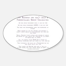 Fibro Group Convention Oval Decal