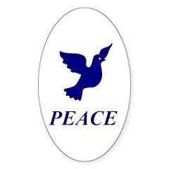Blue Dove Oval Sticker (50 pk)
