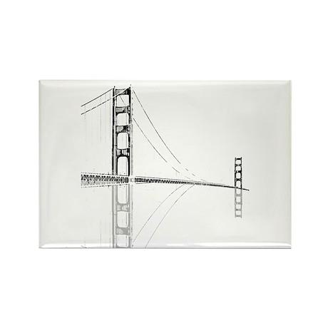 Golden Gate Faded Rectangle Magnet (10 pack)