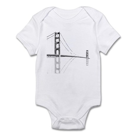 Golden Gate Faded Infant Bodysuit