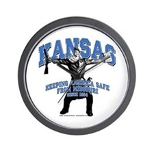 Kansas - Keeping America Safe... Wall Clock