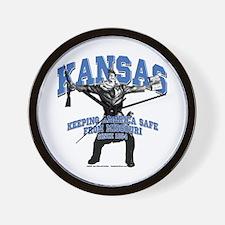 Kansas - Keeping America Safe... Wall Clock