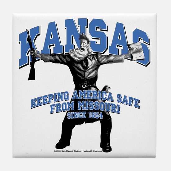 Kansas - Keeping America Safe... Tile Coaster
