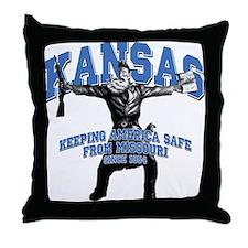 Kansas - Keeping America Safe... Throw Pillow