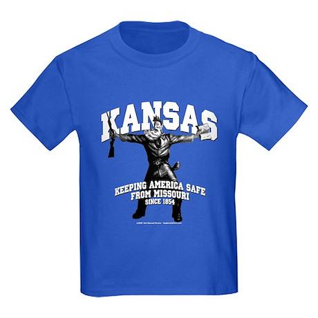 Kansas - Keeping America Safe... Kids Dark T-Shirt