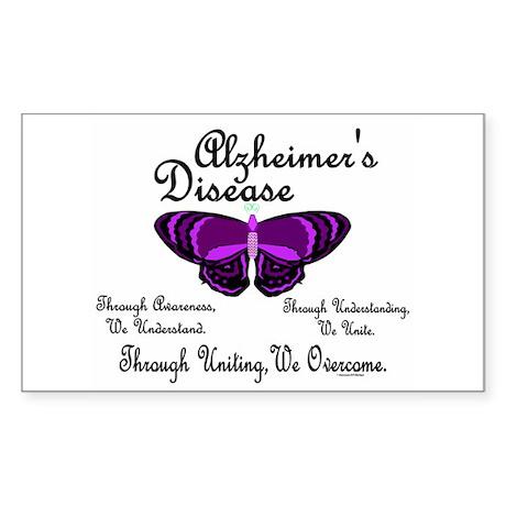 Butterfly Awareness 1 (Alzheimers) Sticker (Rectan