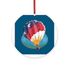 Hot Air Balloon Crew Ornament (Round)