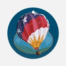 Hot Air Balloon Crew Ornament (Round)