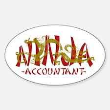 Dragon Ninja Accountant Oval Decal