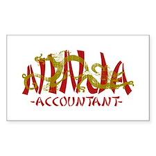 Dragon Ninja Accountant Rectangle Decal