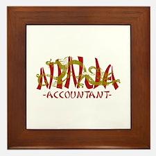 Dragon Ninja Accountant Framed Tile