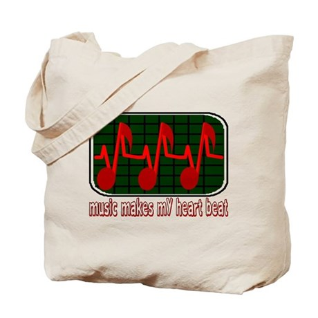 Music Makes My Heart Beat Tote Bag