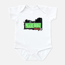 PULASKI BRIDGE, BROOKLYN, NYC Infant Bodysuit