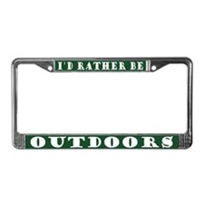 Rather Be Outdoors License Plate Frame