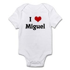 I Love Miguel Infant Bodysuit
