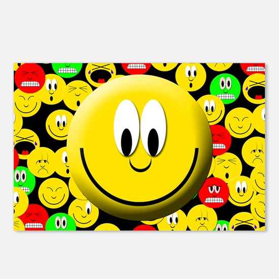 Happy Mood Smiley Postcards (Package of 8)