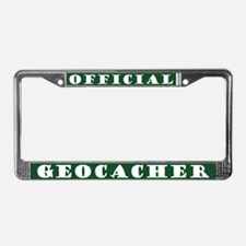 Official Geocacher License Plate Frame