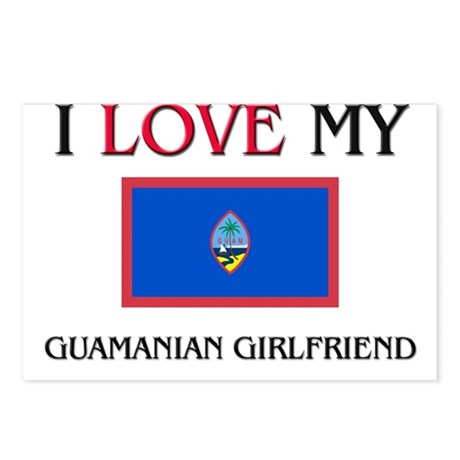 I Love My Guamanian Girlfriend Postcards (Package