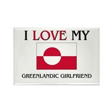 I Love My Greenlandic Girlfriend Rectangle Magnet