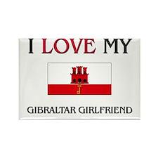 I Love My Gibraltar Girlfriend Rectangle Magnet (1