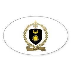 AMIREAU Family Crest Oval Decal