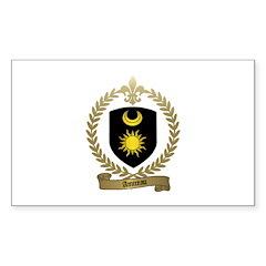 AMIREAU Family Crest Rectangle Decal