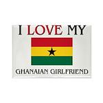 I Love My Ghanaian Girlfriend Rectangle Magnet (10