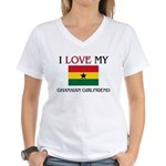 I Love My Ghanaian Girlfriend Women's V-Neck T-Shi