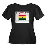 I Love My Ghanaian Girlfriend Women's Plus Size Sc